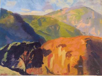 Mountain View by Shawn Phalen. Oil Painting showing Landscape.