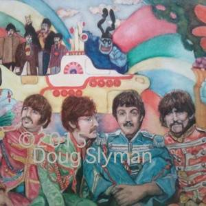 Somewhere in Pepperland by Doug Slyman. Watercolor showing Portrait.