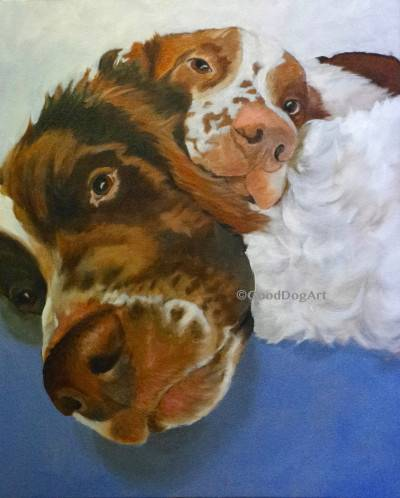 Best Friends, commissioned oil on canvas