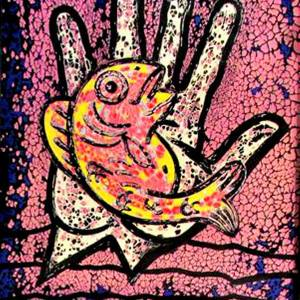 Culture Fish by roger williams. Mixed Medium showing Abstract.
