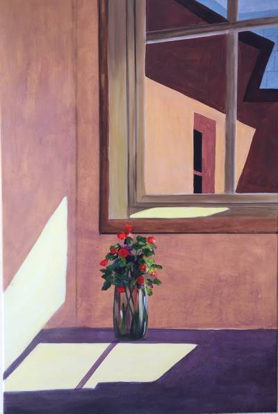 Room with A View by Shawn Phalen. Acrylic showing Building/Architecture.