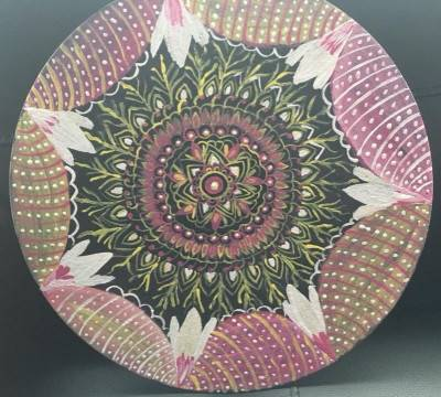 Mandala painting by Sushree Choudhary. Acrylic showing Abstract.