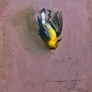 The Prothonotary Warbler by Emma Sims. Oil Painting showing Landscape.