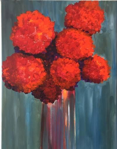All About Red by Shawn Phalen. Acrylic showing Abstract.