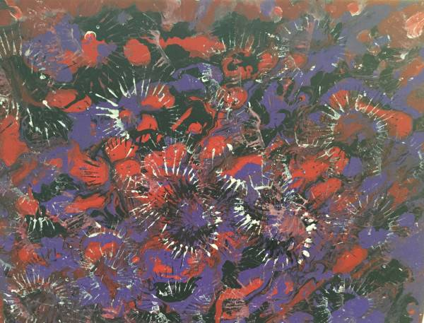 Purple Fireworks by Sushree Choudhary. Acrylic showing Abstract.