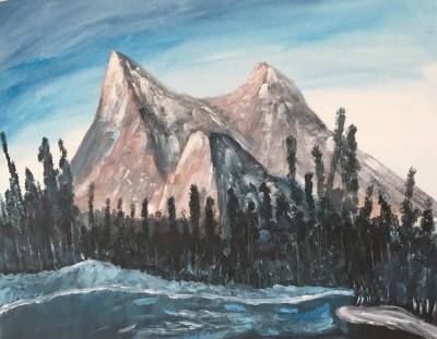 Mountains by Sushree Choudhary. Acrylic showing Landscape.
