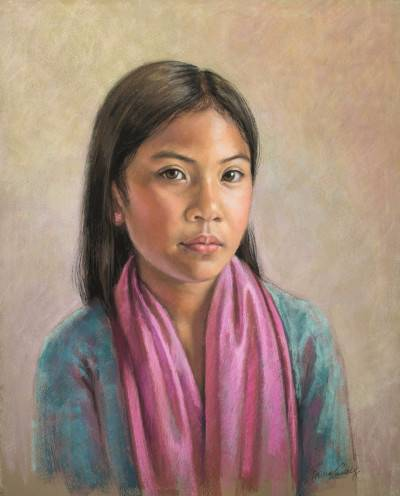 Girl in a Pink Scarf