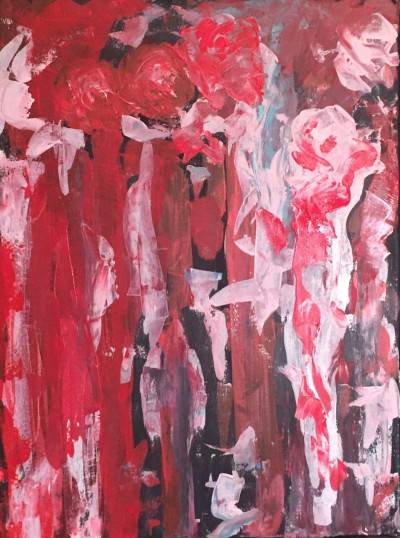 Very Abstract Roses by Shawn Phalen. Acrylic showing Abstract.