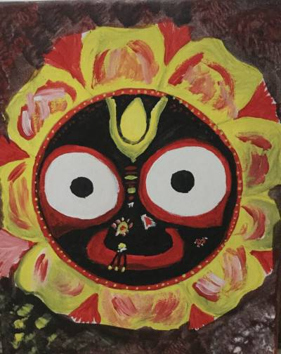 Lord Jagannath by Sushree Choudhary. Acrylic showing Religious.