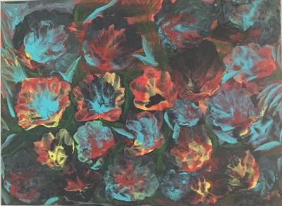 Wild flowers by Sushree Choudhary. Acrylic showing Abstract.