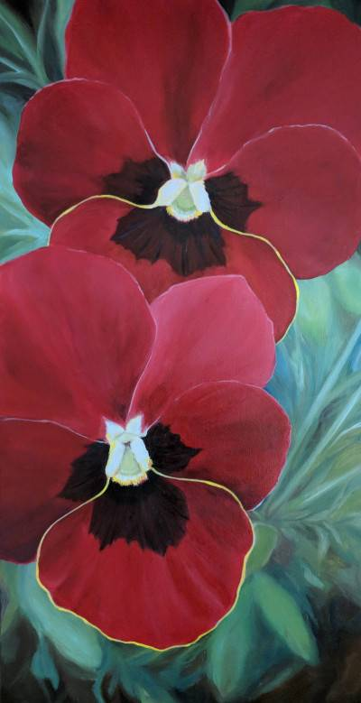Red&Black Pansy